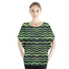 Modern Wavy Stripes Pattern Blouse