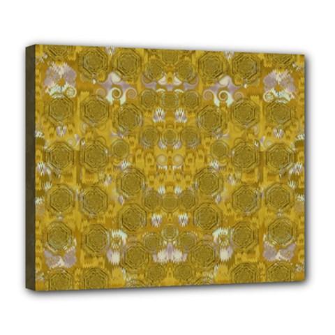 Golden Stars In Modern Renaissance Style Deluxe Canvas 24  X 20