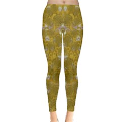 Golden Stars In Modern Renaissance Style Leggings