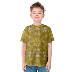 Golden Stars In Modern Renaissance Style Kids  Cotton Tee
