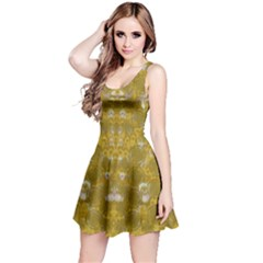 Golden Stars In Modern Renaissance Style Reversible Sleeveless Dress