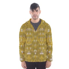 Golden Stars In Modern Renaissance Style Hooded Wind Breaker (men)