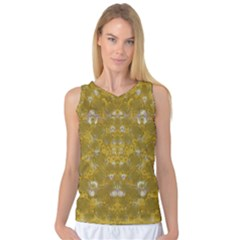 Golden Stars In Modern Renaissance Style Women s Basketball Tank Top