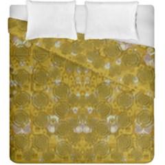 Golden Stars In Modern Renaissance Style Duvet Cover Double Side (king Size)
