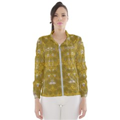Golden Stars In Modern Renaissance Style Wind Breaker (women)