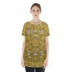 Golden Stars In Modern Renaissance Style Skirt Hem Sports Top