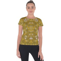 Golden Stars In Modern Renaissance Style Short Sleeve Sports Top