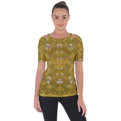 Golden Stars In Modern Renaissance Style Short Sleeve Top