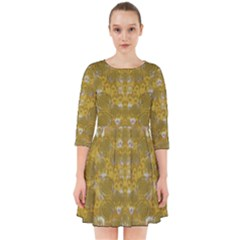 Golden Stars In Modern Renaissance Style Smock Dress