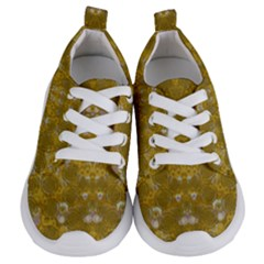 Golden Stars In Modern Renaissance Style Kids  Lightweight Sports Shoes