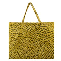 Sunflower Head (helianthus Annuus) Hungary Felsotold Zipper Large Tote Bag