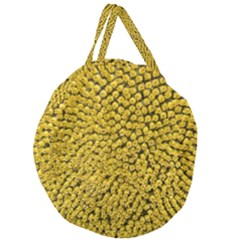 Sunflower Head (helianthus Annuus) Hungary Felsotold Giant Round Zipper Tote