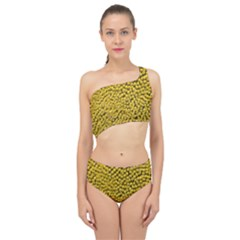 Sunflower Head (helianthus Annuus) Hungary Felsotold Spliced Up Swimsuit