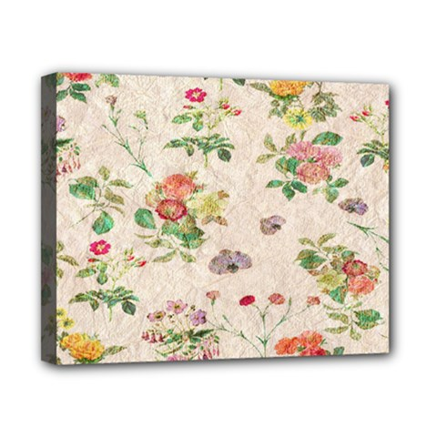 Vintage Flowers Wallpaper Pattern Canvas 10  X 8