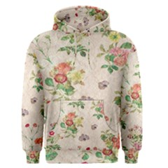 Vintage Flowers Wallpaper Pattern Men s Pullover Hoodie
