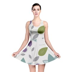 Leaves Flowers Abstract Reversible Skater Dress