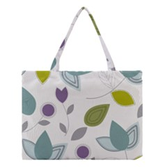 Leaves Flowers Abstract Medium Tote Bag