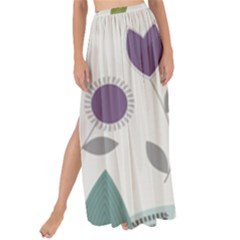 Leaves Flowers Abstract Maxi Chiffon Tie Up Sarong