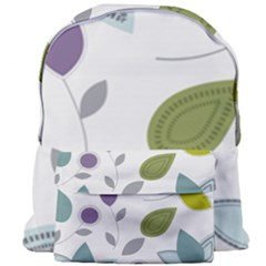 Leaves Flowers Abstract Giant Full Print Backpack