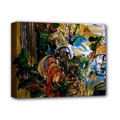 Flowers And Mirror Deluxe Canvas 14  X 11