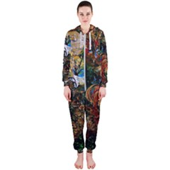Flowers And Mirror Hooded Jumpsuit (ladies)