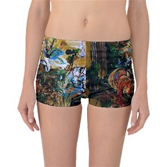 Flowers And Mirror Boyleg Bikini Bottoms