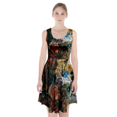 Flowers And Mirror Racerback Midi Dress