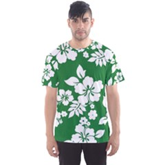 Hibiscus Flower Men s Sports Mesh Tee
