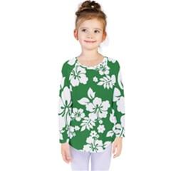 Hibiscus Flower Kids  Long Sleeve Tee