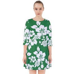 Hibiscus Flower Smock Dress
