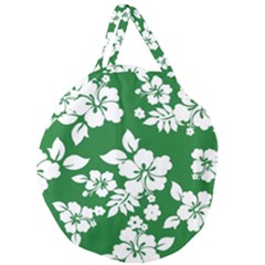 Hibiscus Flower Giant Round Zipper Tote