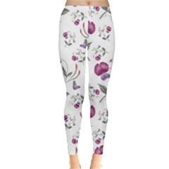 Floral Wallpaper Pattern Seamless Leggings