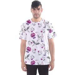 Floral Wallpaper Pattern Seamless Men s Sports Mesh Tee