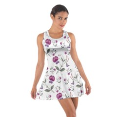 Floral Wallpaper Pattern Seamless Cotton Racerback Dress