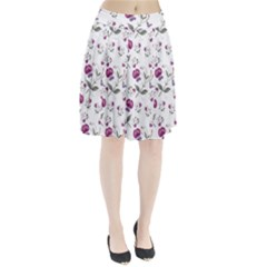 Floral Wallpaper Pattern Seamless Pleated Skirt