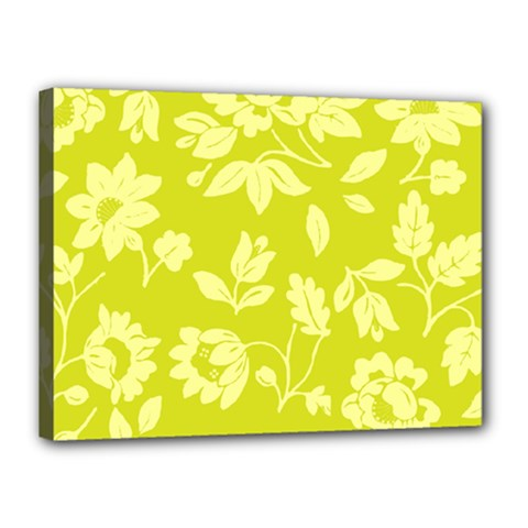Floral Vintage Wallpaper Pattern Canvas 16  X 12