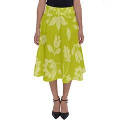 Floral Vintage Wallpaper Pattern Perfect Length Midi Skirt