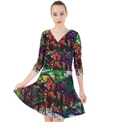 Gatchina Park 4 Quarter Sleeve Front Wrap Dress