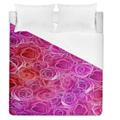 Floral Pattern Pink Flowers Duvet Cover (queen Size)