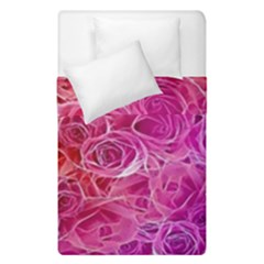 Floral Pattern Pink Flowers Duvet Cover Double Side (single Size)