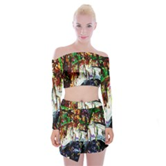 Gatchina Park 1 Off Shoulder Top With Mini Skirt Set