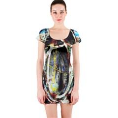 Egg In The Duck Short Sleeve Bodycon Dress