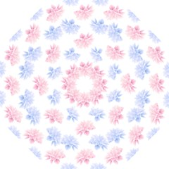 Blue And Pink Flowers Vector Clipart Folding Umbrellas