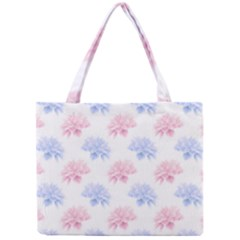 Blue And Pink Flowers Vector Clipart Mini Tote Bag
