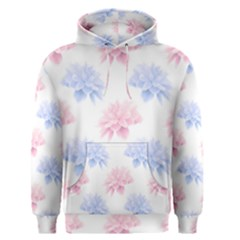 Blue And Pink Flowers Vector Clipart Men s Pullover Hoodie