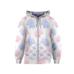 Blue And Pink Flowers Vector Clipart Kids  Zipper Hoodie