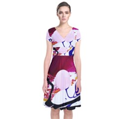 Immediate Attraction 8 Short Sleeve Front Wrap Dress