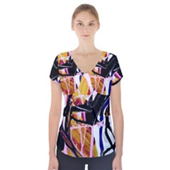 Immediate Attraction 2 Short Sleeve Front Detail Top