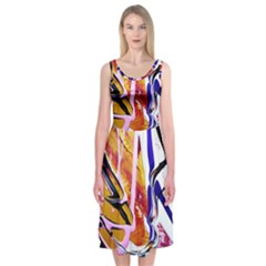 Immediate Attraction 6 Midi Sleeveless Dress