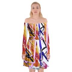 Immediate Attraction 6 Off Shoulder Skater Dress